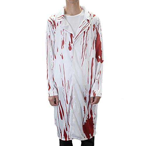 SGI Halloween Costume Terror Nurse and Doctor Clothes with Blood Adult Costume -