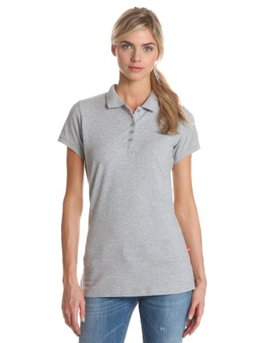 Dickies Women's Pique Polo Shirt, Gray, Large