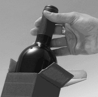 Geschenkkarton Flaschenverpackung 10x 1er Weinverpackung Dekowell classic rot