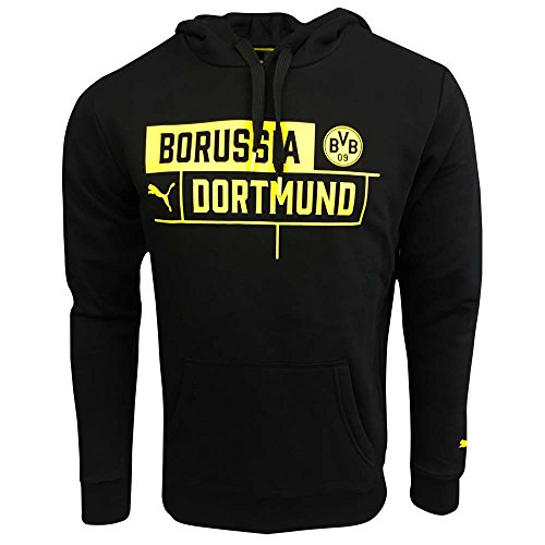 2017-2018 Borussia Dortmund Puma BVB Hoodie (Black)