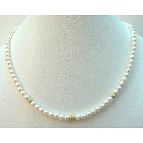 Orelù-Collier Ras du cou Perles d'eau douce : entre 4,5 et 5 Orelù Or Jaune 18 Cts
