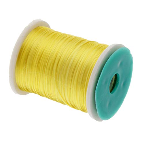 Ameglia Fly Tying Materials Fly Fishing Thread Wire Line 4 Colors PE 250 m/273 yds (Color - Yellow) ()