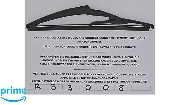 Exact Fit RB3008 - Limpiaparabrisas trasero (25 cm): Amazon.es: Coche y moto