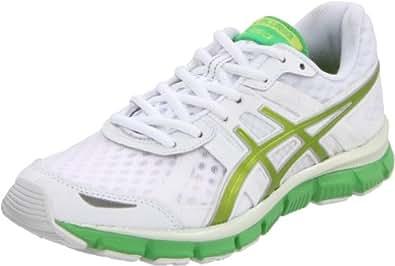ASICS Women's GEL-Blur33 Running Shoe,White/Kiwi/Apple Green,6 M US