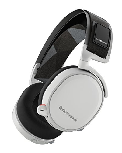 SteelSeries Arctis 7 Lag-Free Wireless Gaming Headset with DTS Headphone:X 7.1 Surround for PC, Playstation 4, VR, Mac and Wired for Nintendo Switch, Android and iOS - White