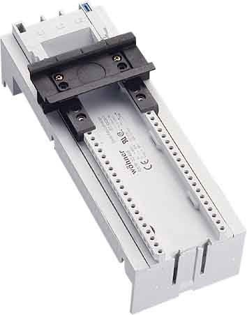 Wohner 32469 Adapter EEC, 1 Adjustable Mounting Rail with Screw Terminals from Rear, 80 A, 72 mm x 200 mm (Pack of 4)