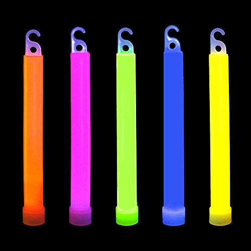 "(Novelinks 50 Pcs 6"" Premium Glow Sticks Bulk - Glow Necklaces Bulk Light up Necklaces Bulk Glow in The Dark)"