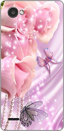 shengshou flowers design mobile back cover for lg q6   pink purple   Pink; Purple