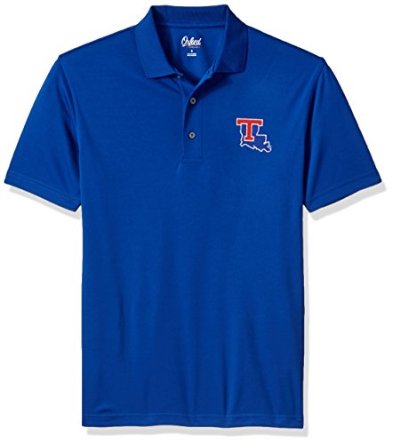 Oxford NCAA Louisiana Tech Bulldogs Adult Men Burke Short Sleeve Solid Polo, 3X-Large, Ultramarine