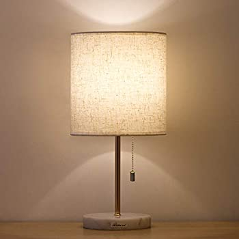 Haitral Marble Bedside Table Lamp Elegant Nightstand