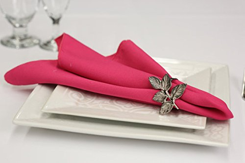 Pack of 12 Polyester Napkins (Fuschia)