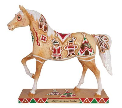 ted Ponies Village Christmas Cookie Figurine, 7-1/4-Inch (Painted Village)