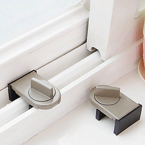 1unidades bloqueo para puerta o ventana corrediza antirrobo. Cierre de seguridad para bebés, tope de aleación de aluminio: Amazon.es: Hogar