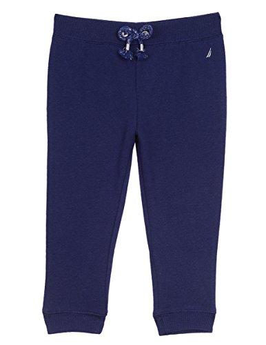 Super Soft Fleece Pants (Nautica Baby Girls' Super Soft Fleece Pant With Metallic Rope Tie, Medium Navy, 24 Months)