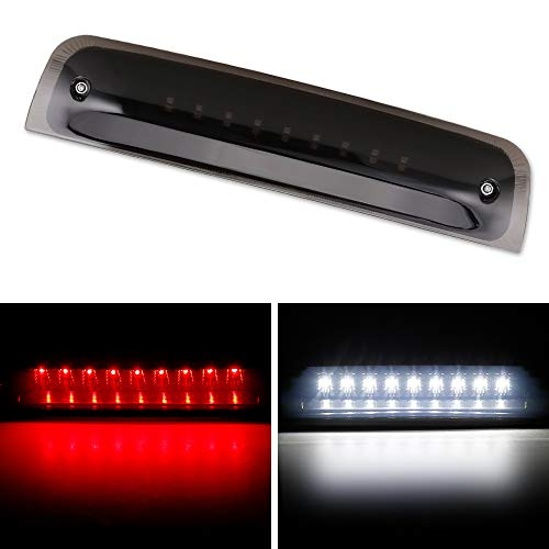 Dodge Ram Third Brake Light Stop Lamp Compatible For 2011-2016 Dodge Ram 1500 2500 3500 Dual-Row LED Brake Tail Light Assembly Smoke Lens ()