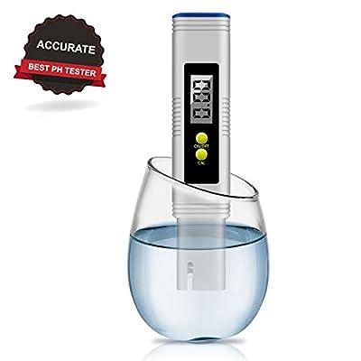Digital PH Meter, VANTAKOOL PH Meter 0.01 Resolution Pocket Size Water Quality Tester with ATC 0-15 pH Measurement Range for Household Drinking Water, Aquarium, Swimming Pools, Hydroponics