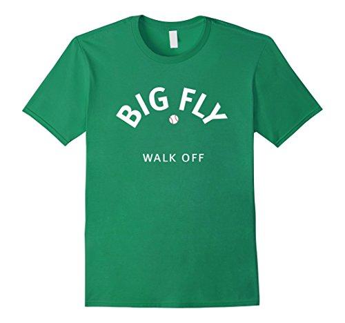 Mens Big Fly - Walk Off Baseball T shirt Medium Kelly Green