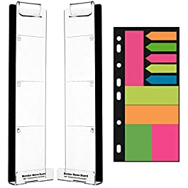 Barelove Multifunction Clear Computer Monitor Memo Boards, Set of 2 (Left & Right) Acrylic Screen Message Pad Side Panel…