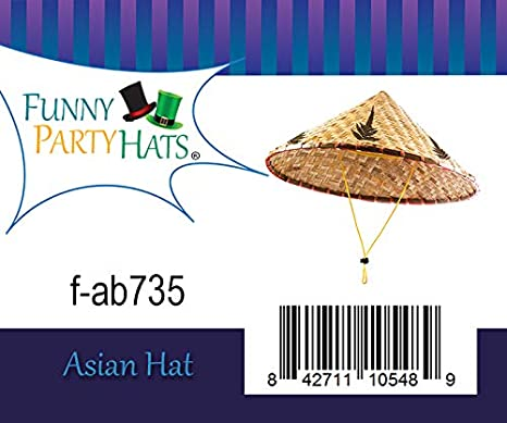 Cappelli Conici Divertenti da Party Asian Hat /& ndash; Rice Paddy Hat /& ndash; Cappello Cinese /& ndash; Rice Farmer Hat