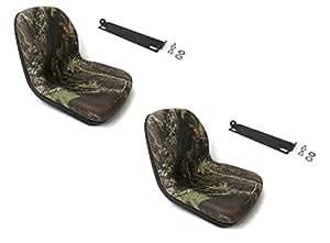 (2) asientos de camuflaje con soportes de varilla pivotante John Deere Gator 4 x 2 6 x 4 diésel de The ROP Shop