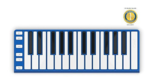 CME Xkey 25-key Ultra-slim USB Controller Keyboard Neon Blue with 1 Year Free Extended Warranty