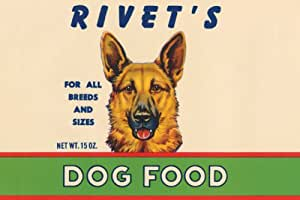 Canvas Print, Rivet's Dog Food - 20x30