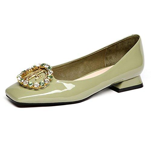 Zapatillas ZHANGRONG Planas con Cordones, Comodidad y Cordones Suaves para Mujer, con Punta Cuadrada (Color : A, Tamaño : EU37/UK4.5-5/CN37) A