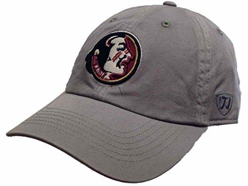 クラック少ない中庭Florida State Seminoles牽引グレーヴィンテージクルーレトロ1990 Football調整帽子キャップ