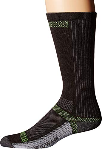 Wigwam Men's Ultra Cool-Lite Ultimax Ultra-Lightweight Crew Sock,Black,Large/shoe Size:Men's 9-12,Women's 10-13