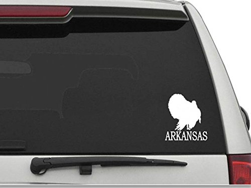 DECALS USA Arkansas Wild Turkey Decal Sticker for Car and Truck Windows and Laptops