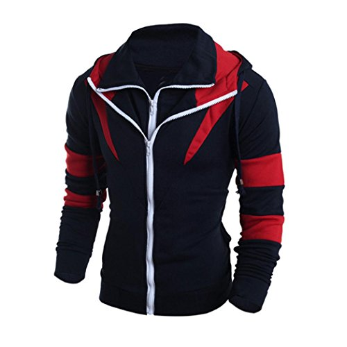 Price comparison product image Men's Sweater,Neartime Winter Hoodie Man Hooded Sweatshirt Jacket Coat (M, Navy)