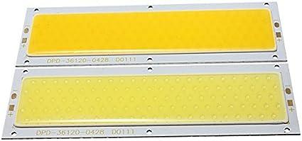 HELEISH 30W COB LED Chip DC12-24V Blanco cálido/Puro 140x50mm para luz de lámpara DIY Accesorios de iluminación LED (Color : White)