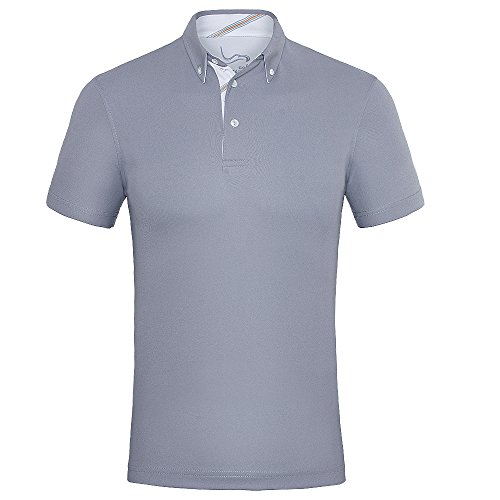 EAGEGOF Men's Shirts Short Sleeve Tech Performance Golf Polo Shirt Loose Fit