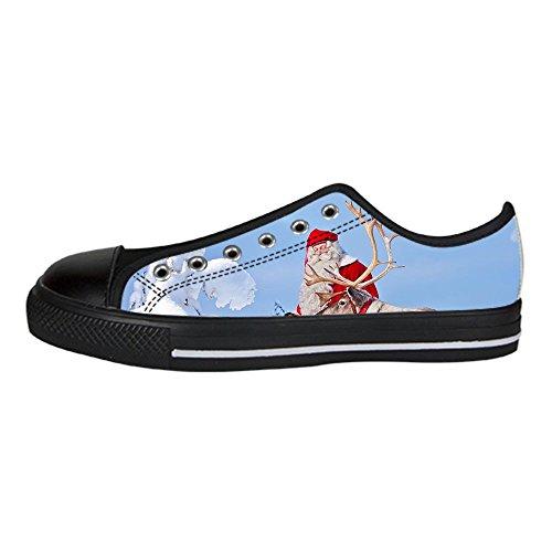 - Custom Santa Claus Womens Classic High Top Canvas Shoes Fashion Sneaker