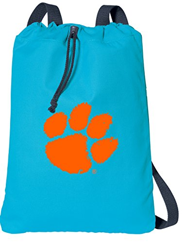 (Broad Bay Clemson Drawstring Backpack 100% COTTON Clemson Tigers Cinch Bag)