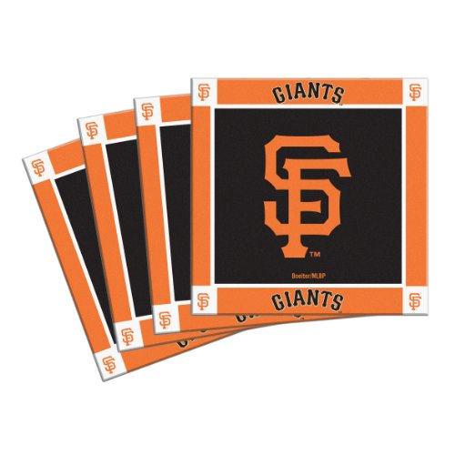 Boelter Brands MLB San Francisco Giants 4-Pack Ceramic Coasters (Giants San Coaster Francisco)