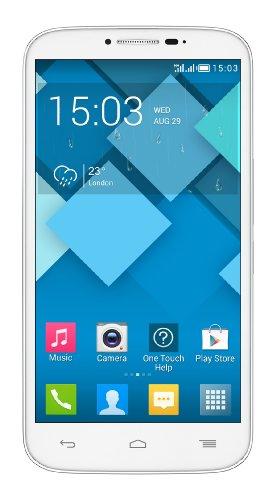 Alcatel Onetouch Smartphone Dual-microSIM (12,7 cm (5,5 Zoll) Touchscree, 8 Megapixel Kamera, Quad Core Prozessor, 1,3GHz, Android 4.2) weiß