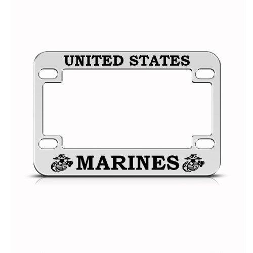 Marines Marine Metal Bike Motorcycle License Plate Frame Holder Speedy Pros U.S
