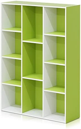 Furinno 11107WH GR Reversible 11 Cube White