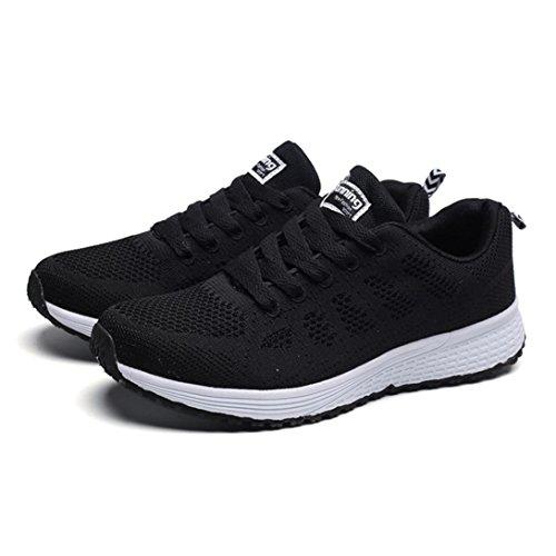 Incrociate Cross Testa Nero Scarpe Mesh Moda Somesun Traspirante Piatte Donne Sneakers Casual Round Da Corsa Rotonda Sportive Griglia Cinghie 4qIwR