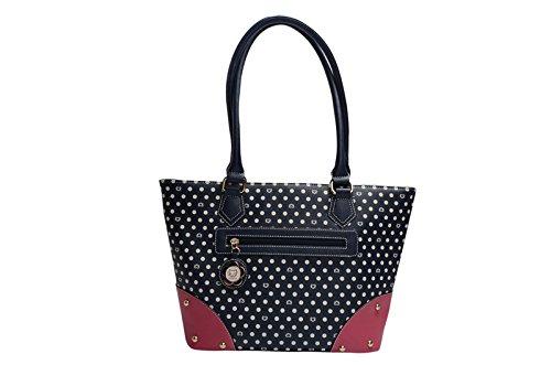 19d6694171 Sammao 2016 nuovo di alta qualità PU moda donna borse DOT gattino stampa donne  borsa a tracolla designer Handbags spedizione gratuita: Amazon.it: Scarpe e  ...
