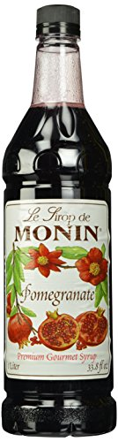 Monin Flavored Syrup, Pomegranate, 33.8-Ounce Plastic Bottles (Pack of - Monin Pomegranate