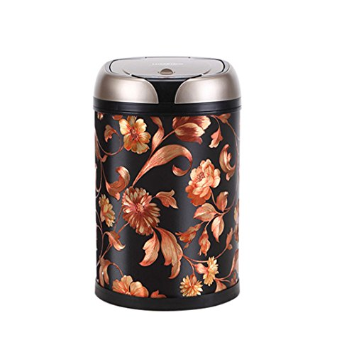 CBDGD Induction Trash Can Home Living Room Kitchen Bathroom European Smart Trash Can Pedal-Free Rechargeable Trash Can 44.5x24.5cm Trash ()