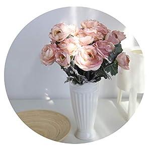 Zalin Artificial Daisy Lotus 6 Colors Silk Cloth Flower Decoration Wedding Party Garden Decor,D 106