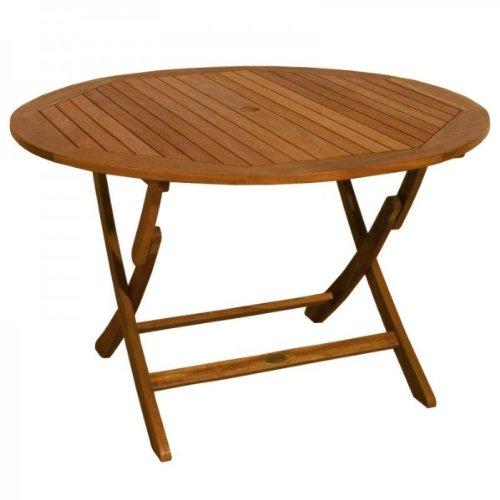 Mesa de jardín redondo, plegable, Bangkirai de alta-calidad madera ...