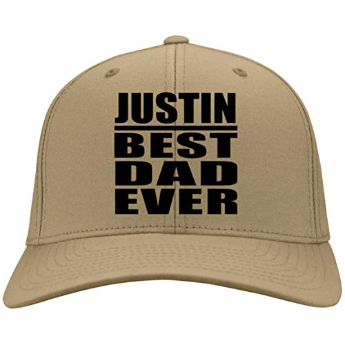 Dad Cap, Justin Best Dad Ever - Twill Cap Vegas Gold/One Size, Adjustable Golf Baseball Hat