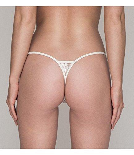 Lucky Cheeks Damen Micro String Ivory Pearl