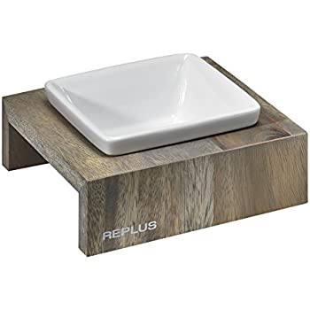 Bowsers Artisan Diner - Single Dog Feeder, Fossil - X-Small - 12x12x8 Inch