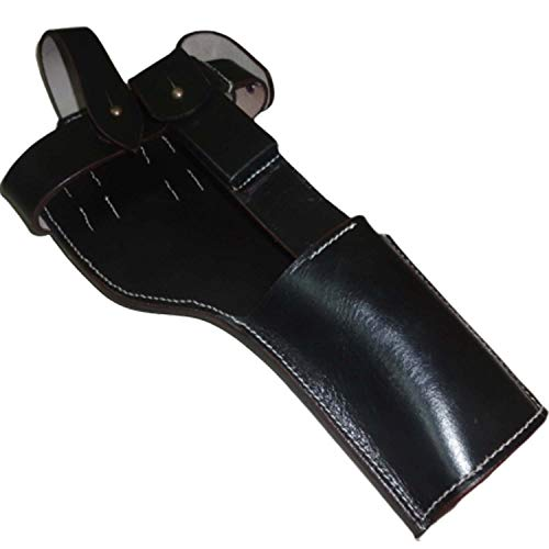 warreplica German C96 Broomhandle Mauser Holster Dark Brown Color - Reproduction (German Mauser Broomhandle Leather Holster And Stock)