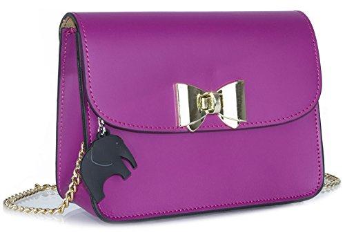 Big Handbag Shop - Bolso bandolera mujer violeta